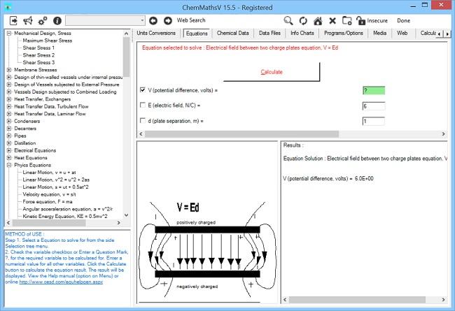 ChemMaths screen shot